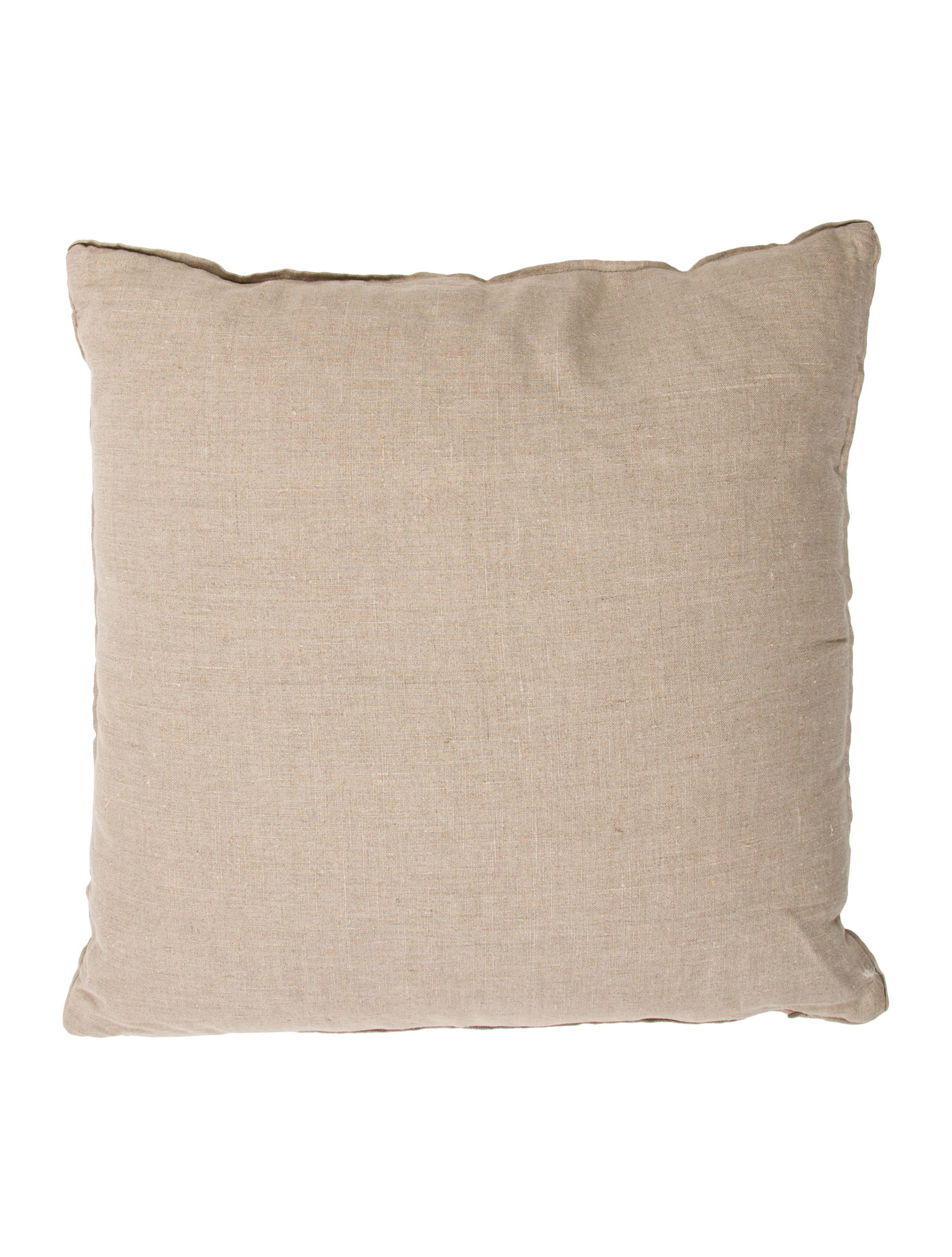 Lavender Throw Pillows : Hand-Painted Linen Throw Pillow - Bedding And Bath - BAR20434 The RealReal