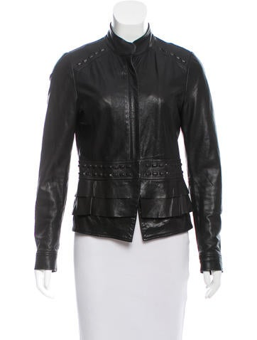 Barney's Structured Leather Jacket None