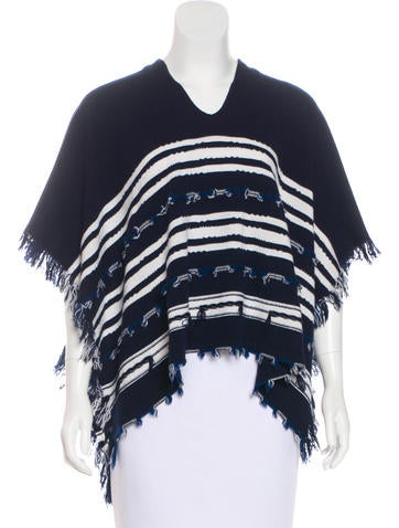 Barrie Fringed Cashmere Poncho w/ Tags None