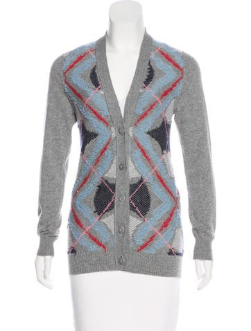 Barrie Cashmere Patterned Cardigan None