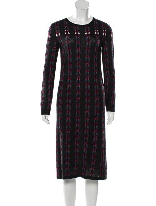 Barrie Cashmere Midi Dress Black