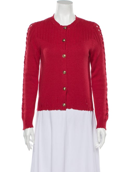 Barrie Cashmere Crew Neck Sweater Red