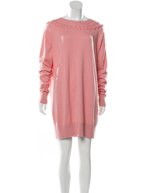 Barrie Cashmere Mini Dress Coral