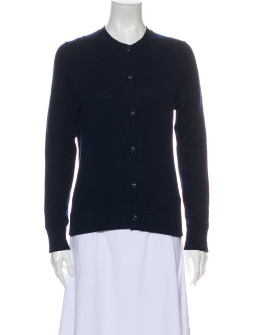 Barrie Cashmere Crew Neck Sweater Blue