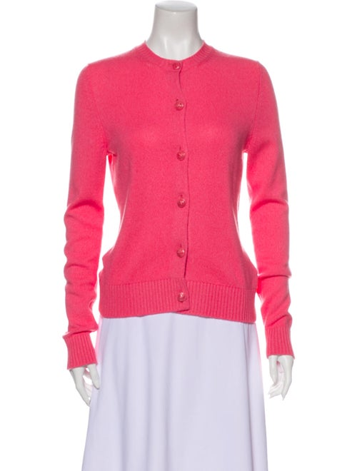 Barrie Cashmere Crew Neck Sweater Pink