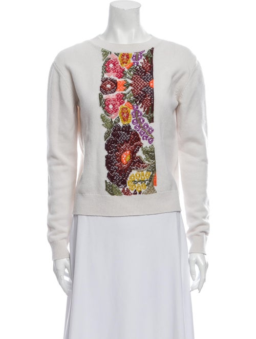 Barrie Cashmere Graphic Print Sweater