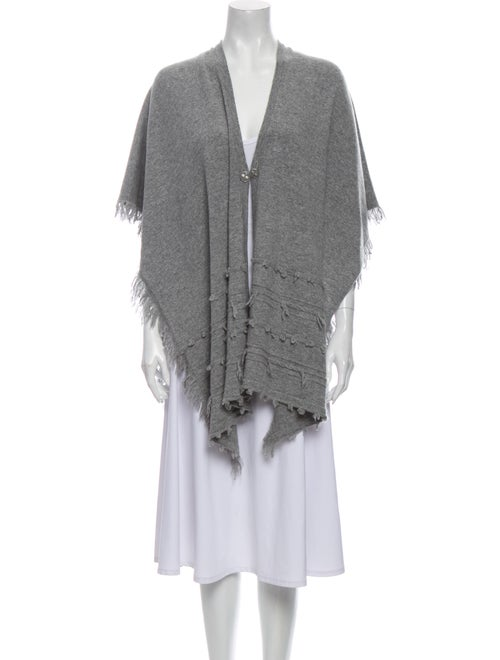 Barrie Poncho Cashmere Sweater Grey