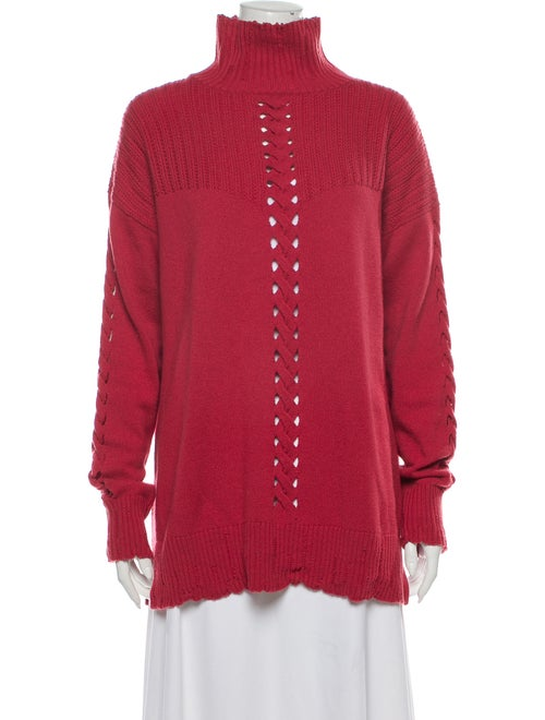 Barrie Cashmere Turtleneck Sweater Red