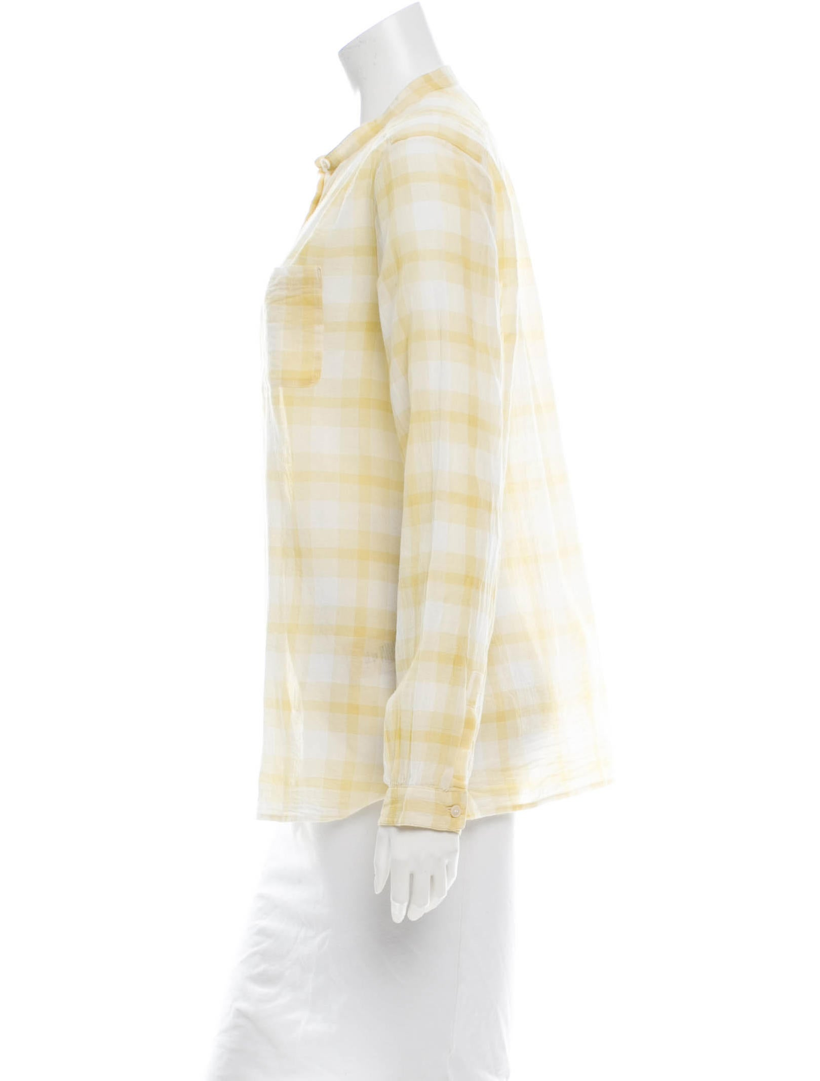 Burberry brit plaid top clothing bbr22116 the realreal for Burberry brit plaid shirt