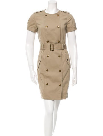 Burberry Brit Belted Mini Dress None