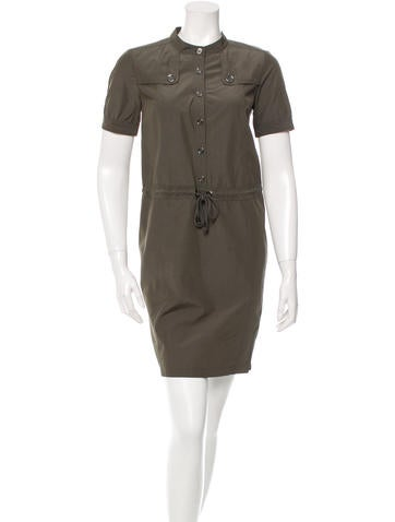 Burberry Brit Short Sleeve Mini Dress None