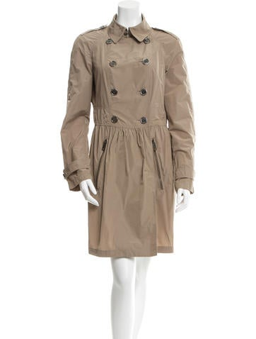 Burberry Brit Double-Breasted Trench Coat