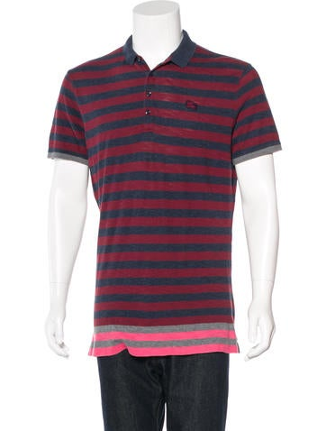 Burberry Brit Striped Embellished Polo None