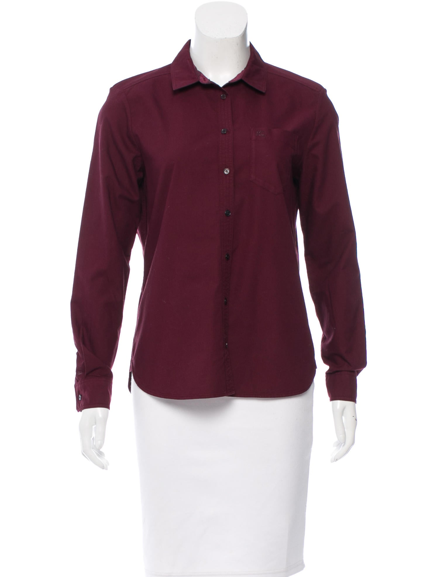 Burberry brit collared button up top clothing bbr25301 for Women s collared button up shirts
