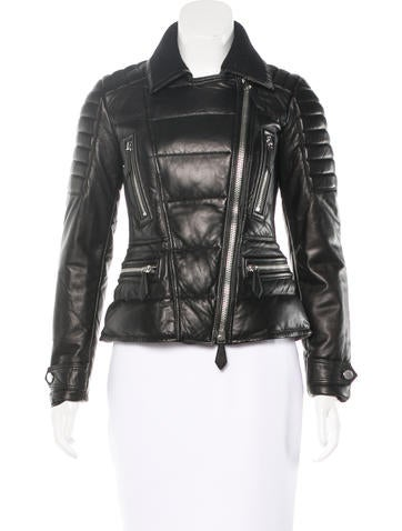 Burberry Brit Quilted Leather Jacket None