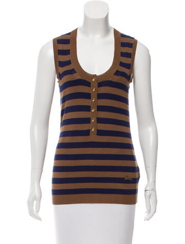 Burberry Brit Silk & Wool-Blend Top None