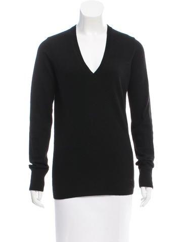Burberry Brit Cashmere Nova Check-Trimmed Sweater None
