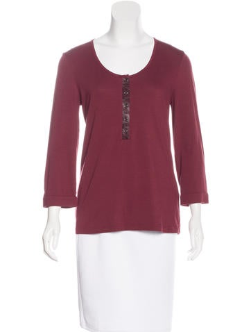 Burberry Brit Long Sleeve Knit Top None