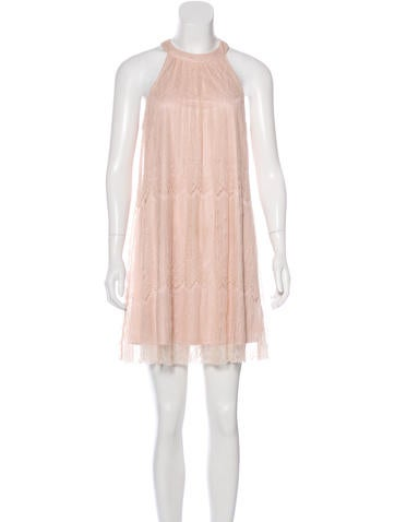 Burberry Brit Lace Mini Dress None