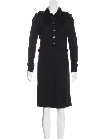 Burberry Brit Long Sleeve Knee-Length Dress w/ Tags None