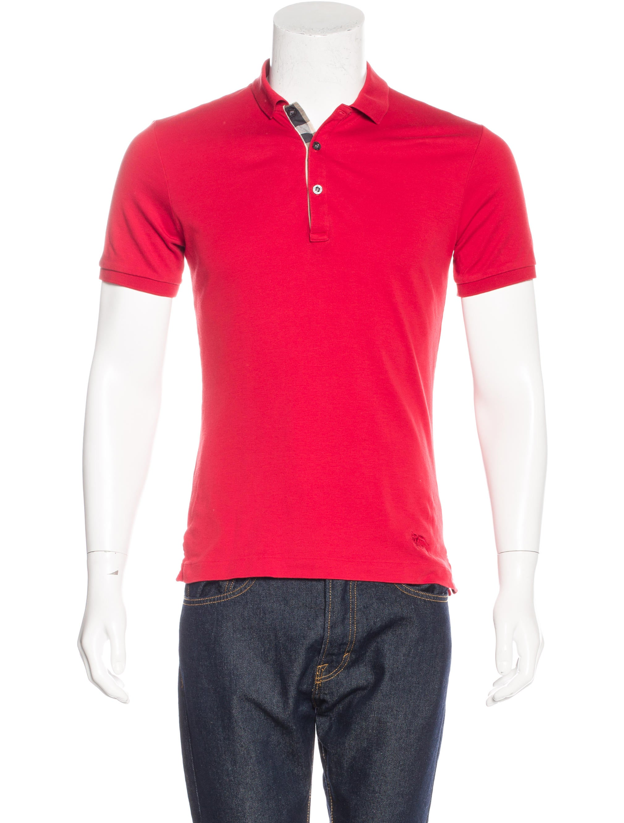 Burberry Brit Jersey Knit Polo Shirt Clothing Bbr26791