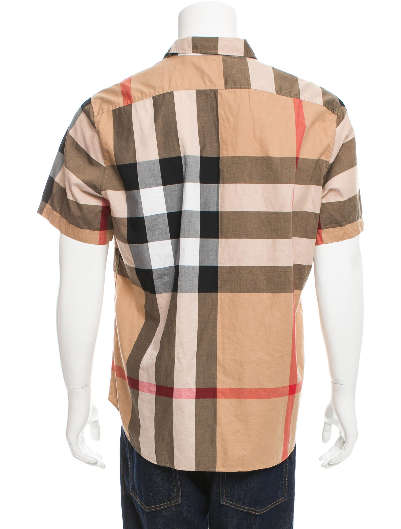 Burberry brit exploded check button up shirt clothing for Burberry brit checked shirt