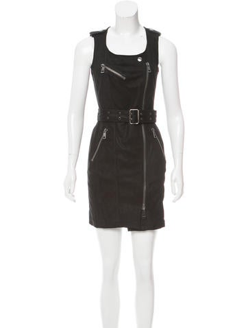 Burberry Brit Suede Belted Dress None