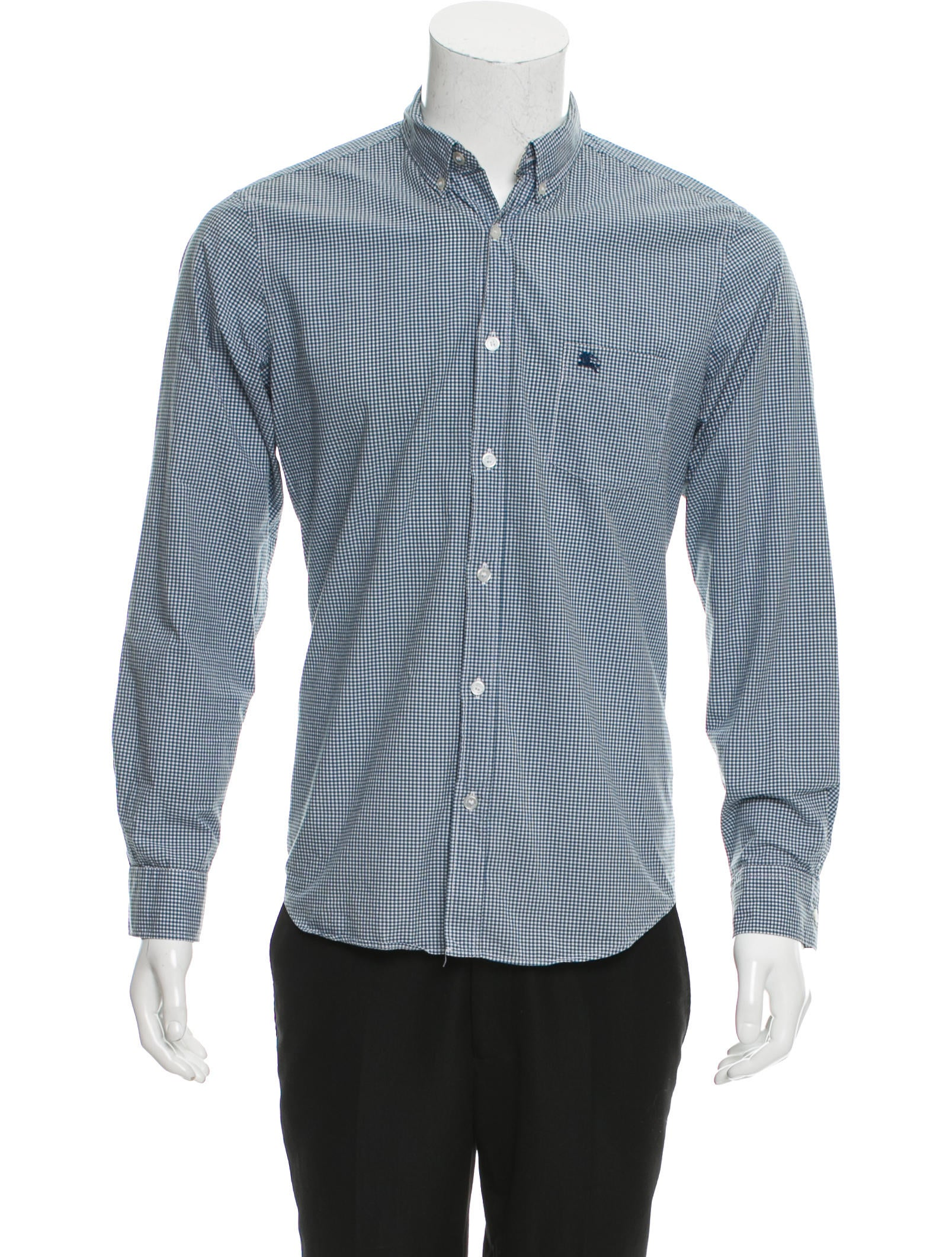 Burberry Brit Plaid Button Up Shirt Clothing Bbr26987