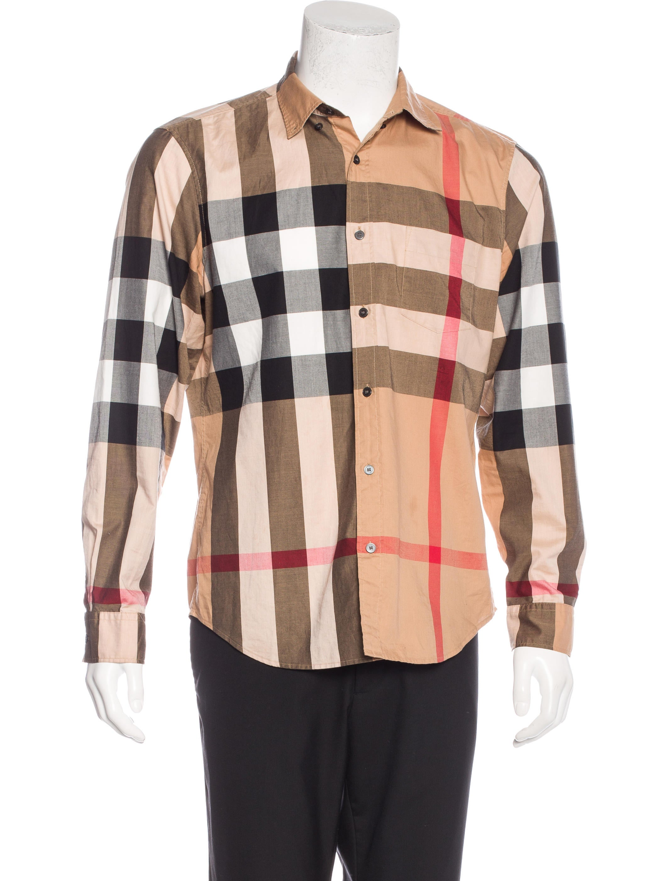Burberry brit exploded check shirt clothing bbr27042 for Burberry brit checked shirt
