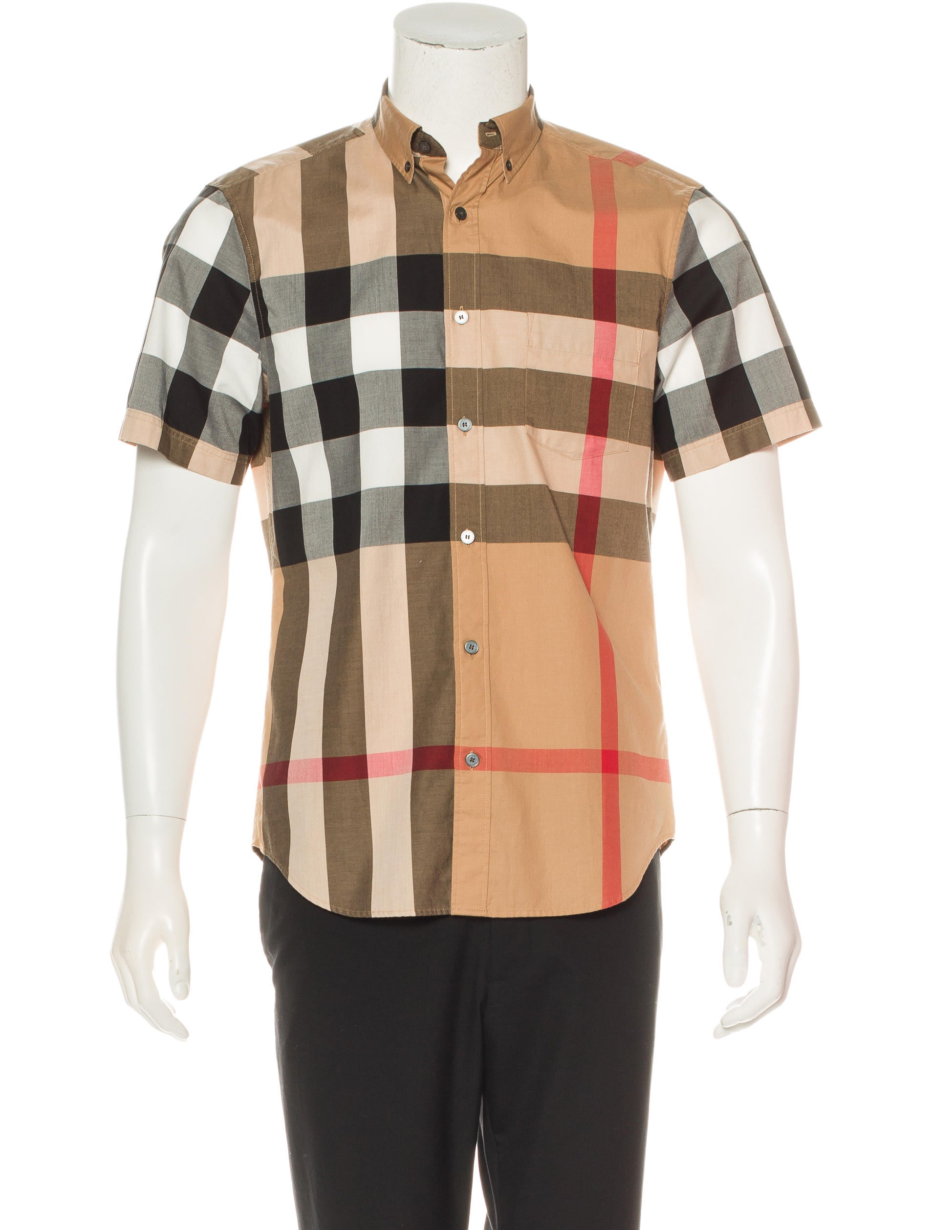 Burberry brit nova check shirt clothing bbr27058 the for Burberry brit checked shirt