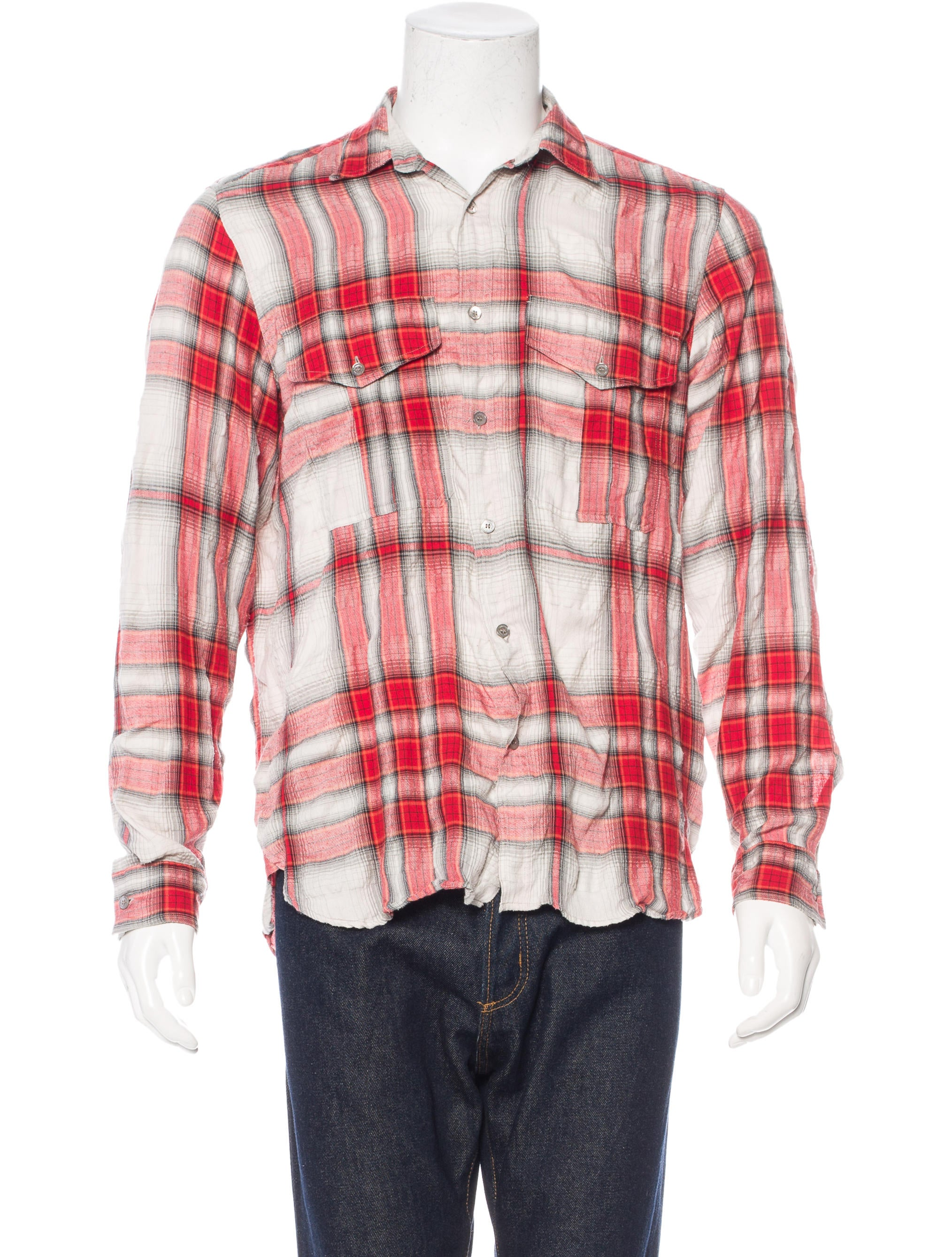 Burberry brit plaid woven shirt clothing bbr27092 for Burberry brit checked shirt