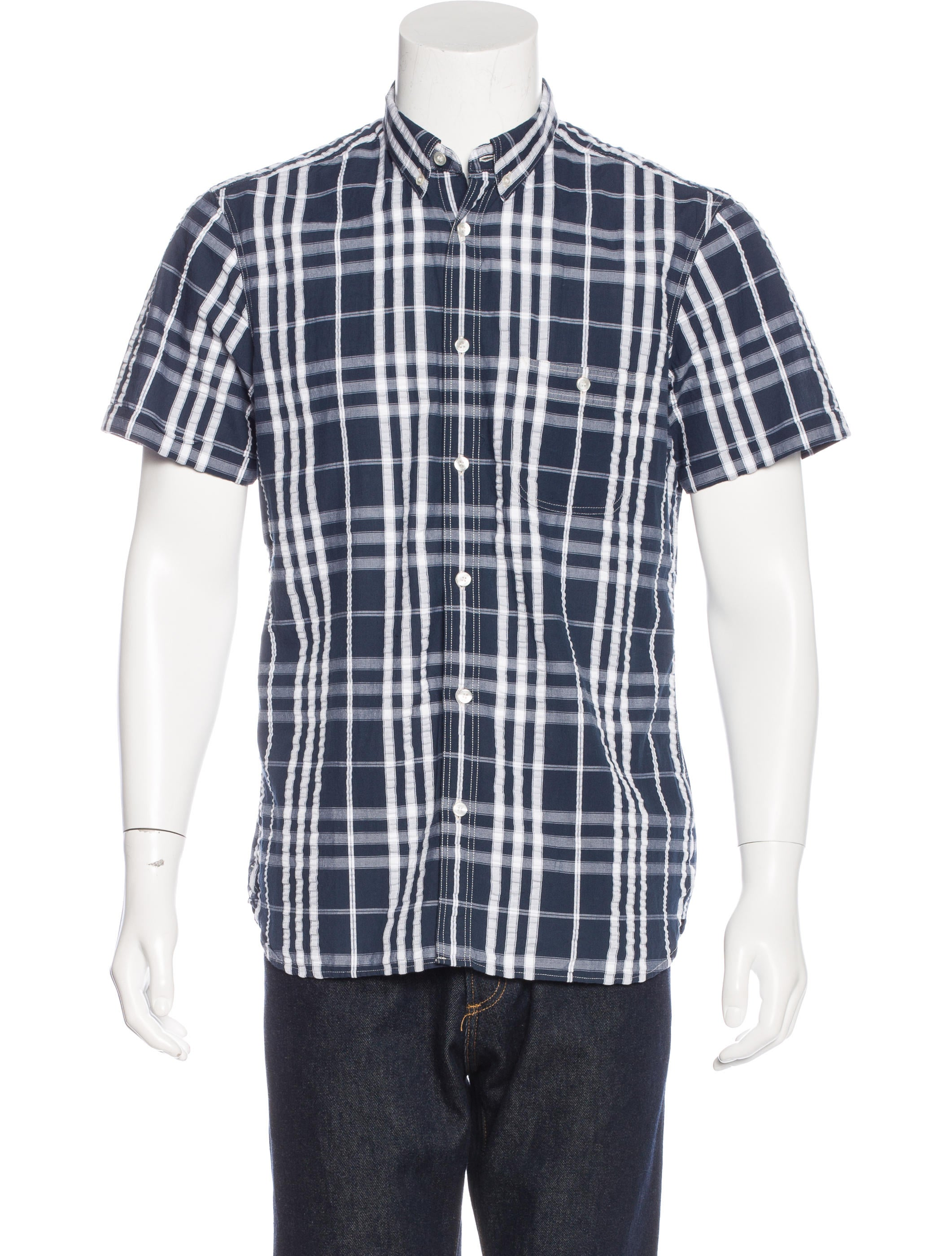 Burberry brit check woven shirt clothing bbr27095 for Burberry brit checked shirt