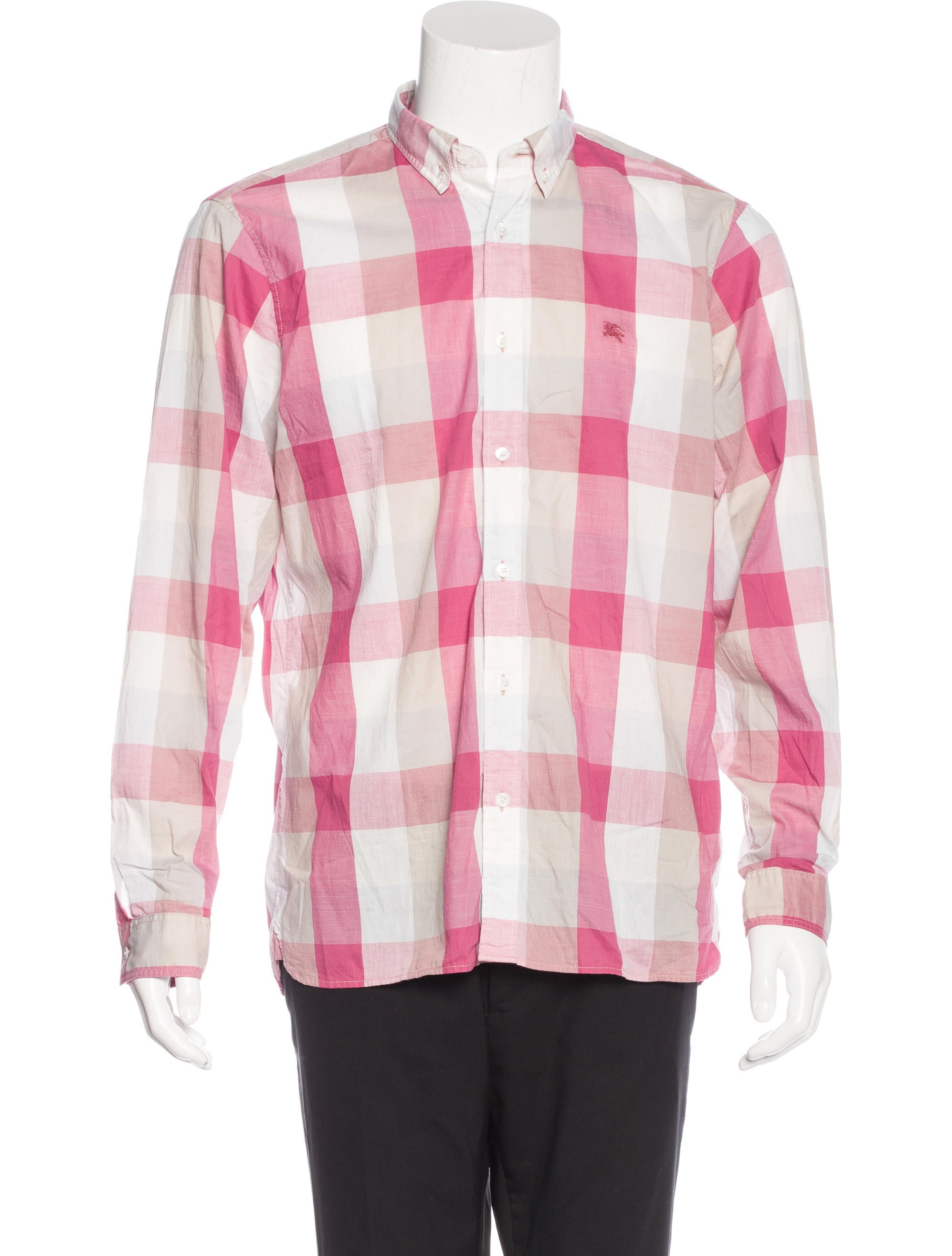 Burberry brit check woven shirt clothing bbr27125 for Burberry brit checked shirt