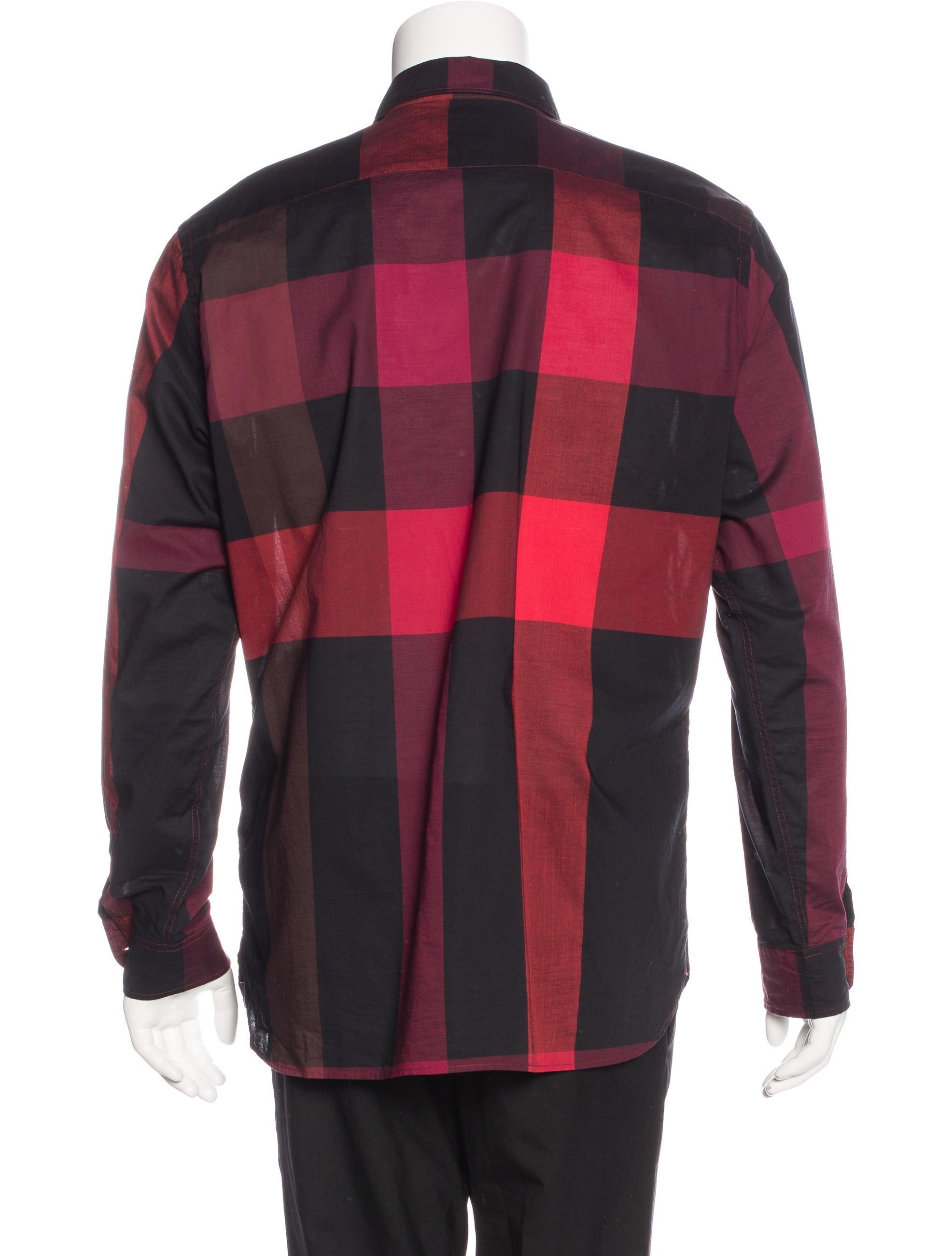 Burberry Brit Plaid Woven Shirt Clothing Bbr27129