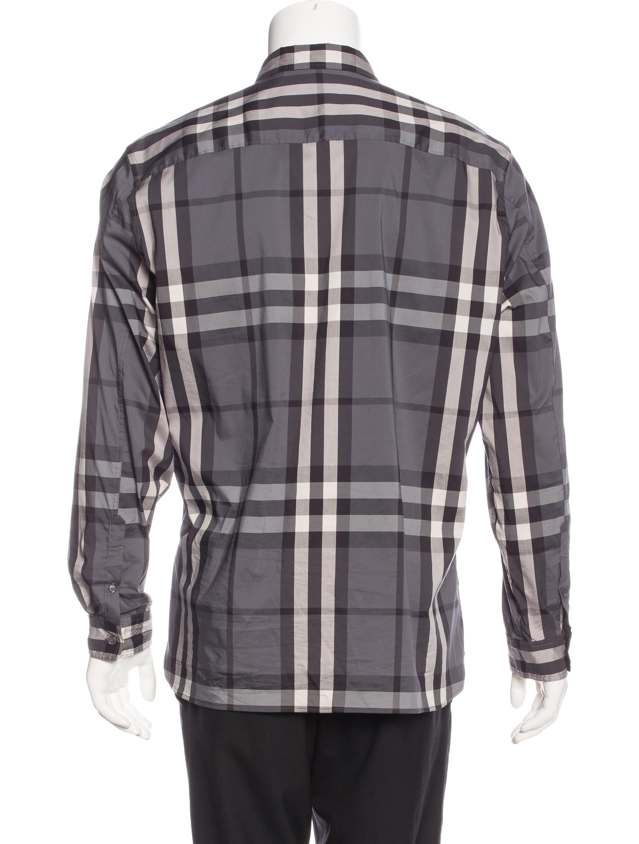 Burberry brit plaid woven shirt clothing bbr27133 for Burberry brit checked shirt