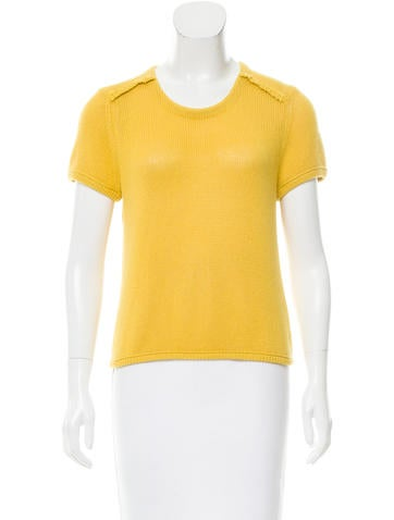 Burberry Brit Cashmere-Blend Short Sleeve Top None