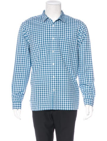 Burberry Brit Plaid Woven Shirt Mens Shirts Bbr27209