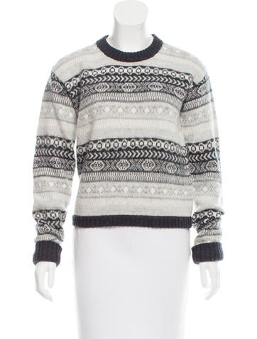 Burberry Brit Fair Isle Wool Sweater None