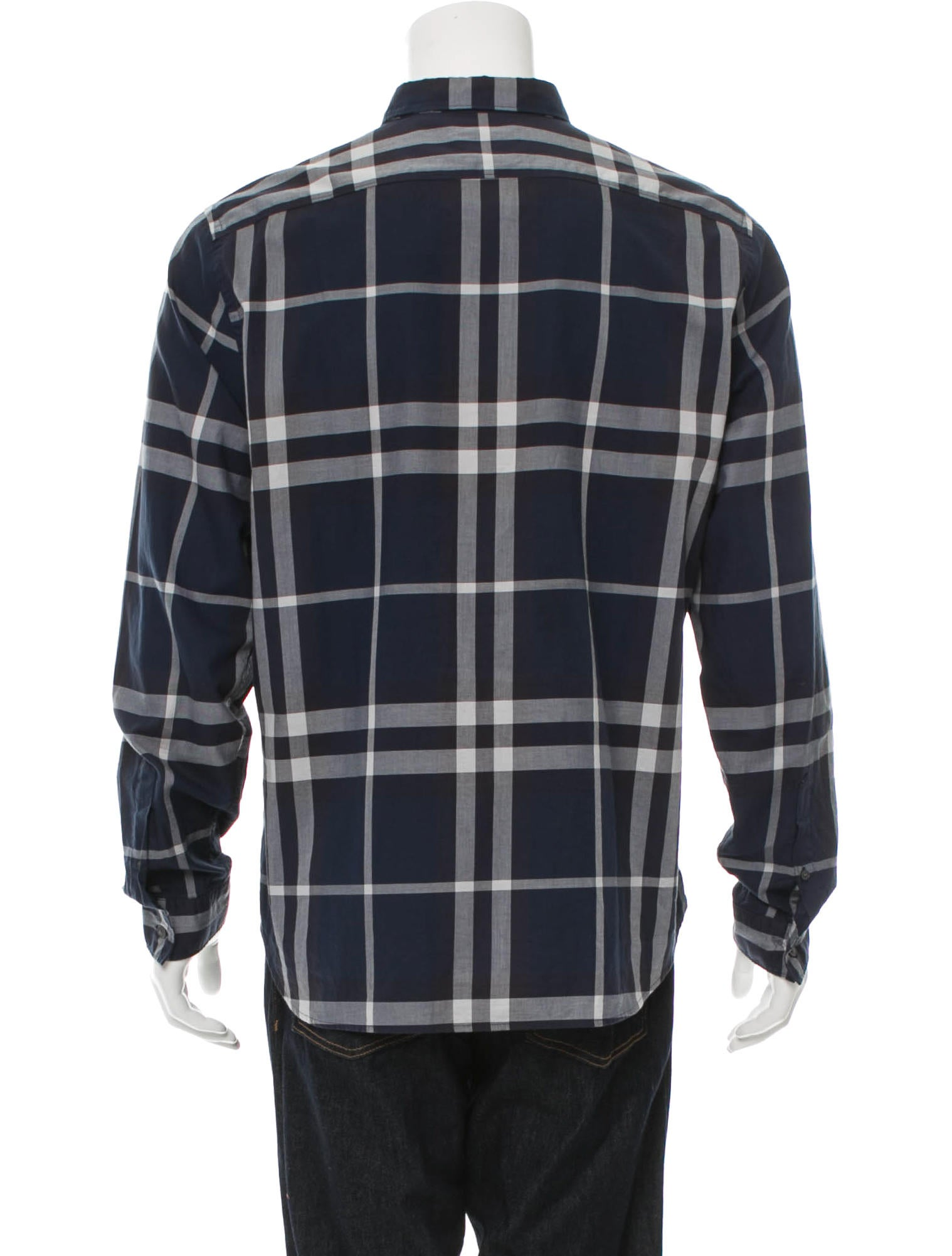 Burberry brit nova check button up shirt clothing for Burberry brit checked shirt