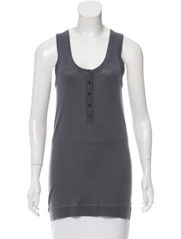 Burberry Brit Sleeveless Open Knit Top None