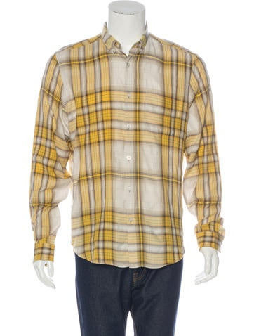 Burberry brit plaid woven shirt clothing bbr27751 for Burberry brit plaid shirt