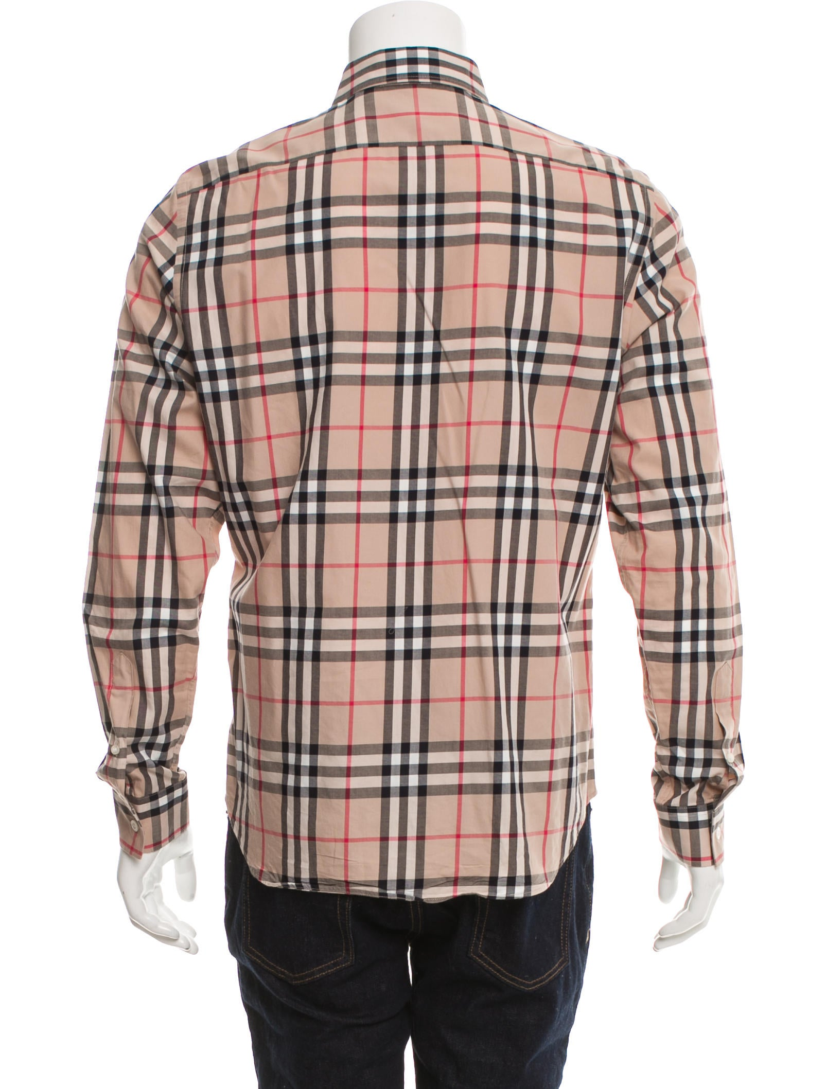 Burberry brit house check print button up shirt clothing for Burberry brit checked shirt