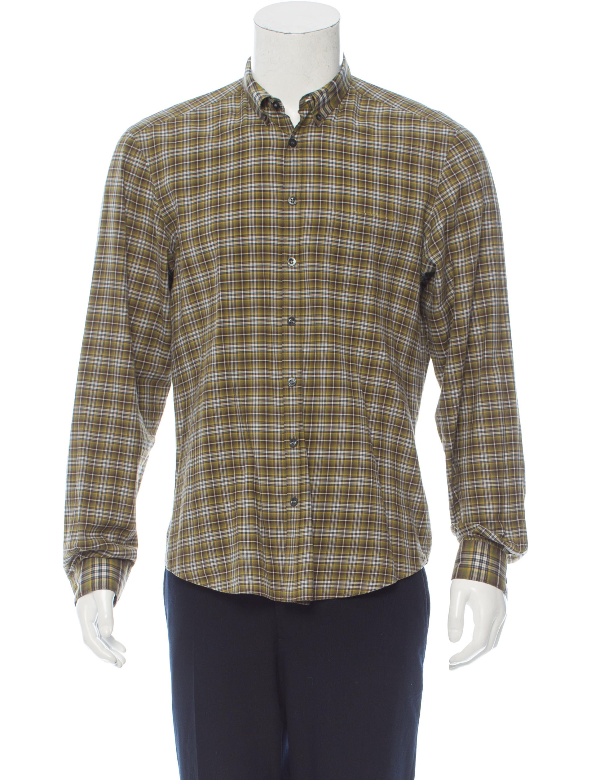 Burberry brit plaid button up shirt clothing bbr27817 for Burberry brit checked shirt