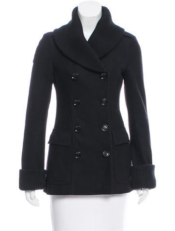 Burberry Brit Shawl Collar Wool Coat None