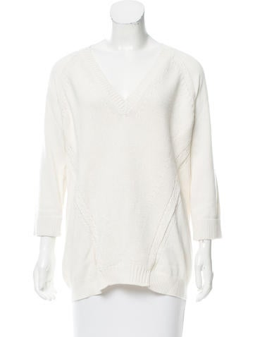 Burberry Brit Cashmere-Blend V-Neck Sweater None
