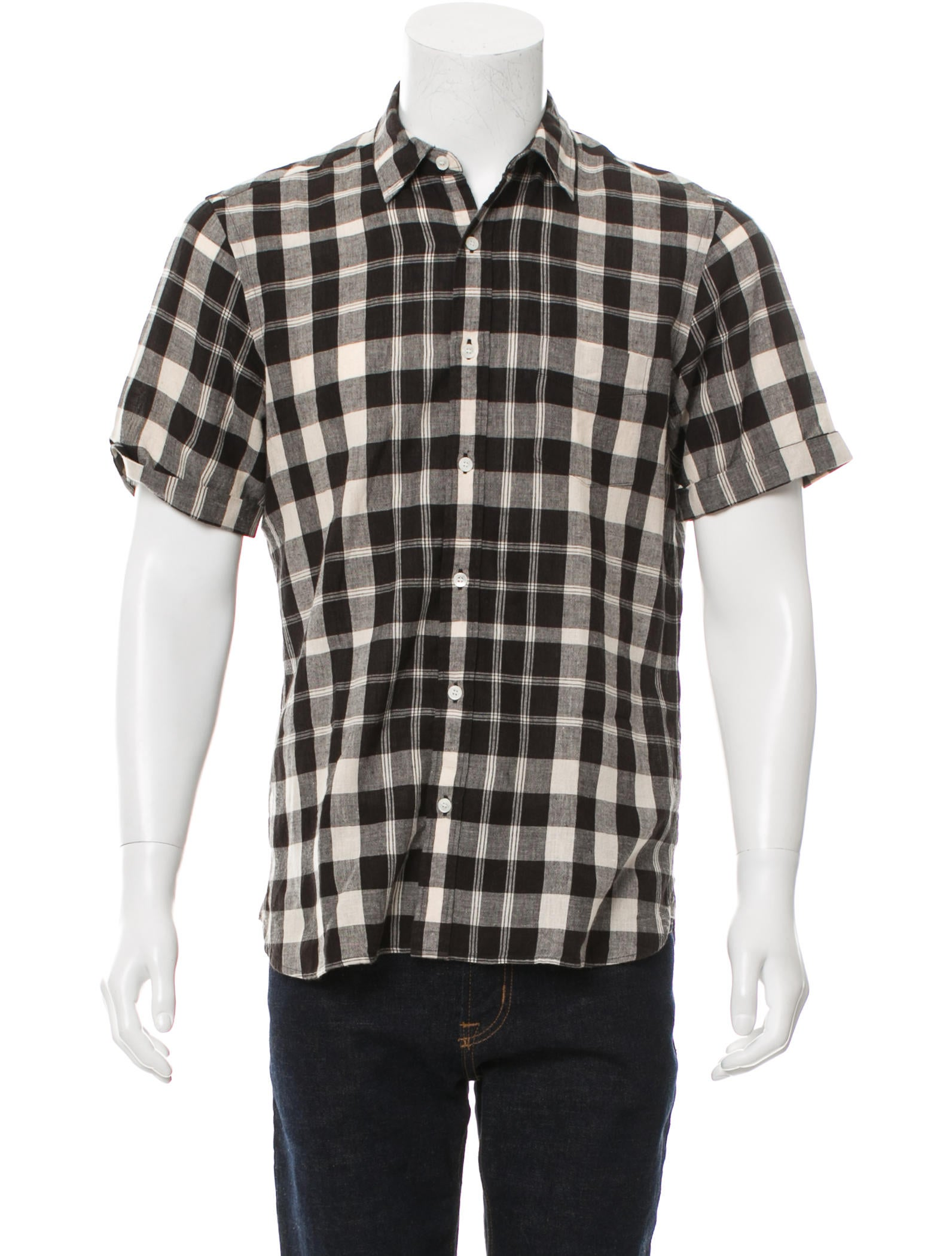 Burberry brit plaid button up shirt clothing bbr28231 for Burberry brit plaid shirt