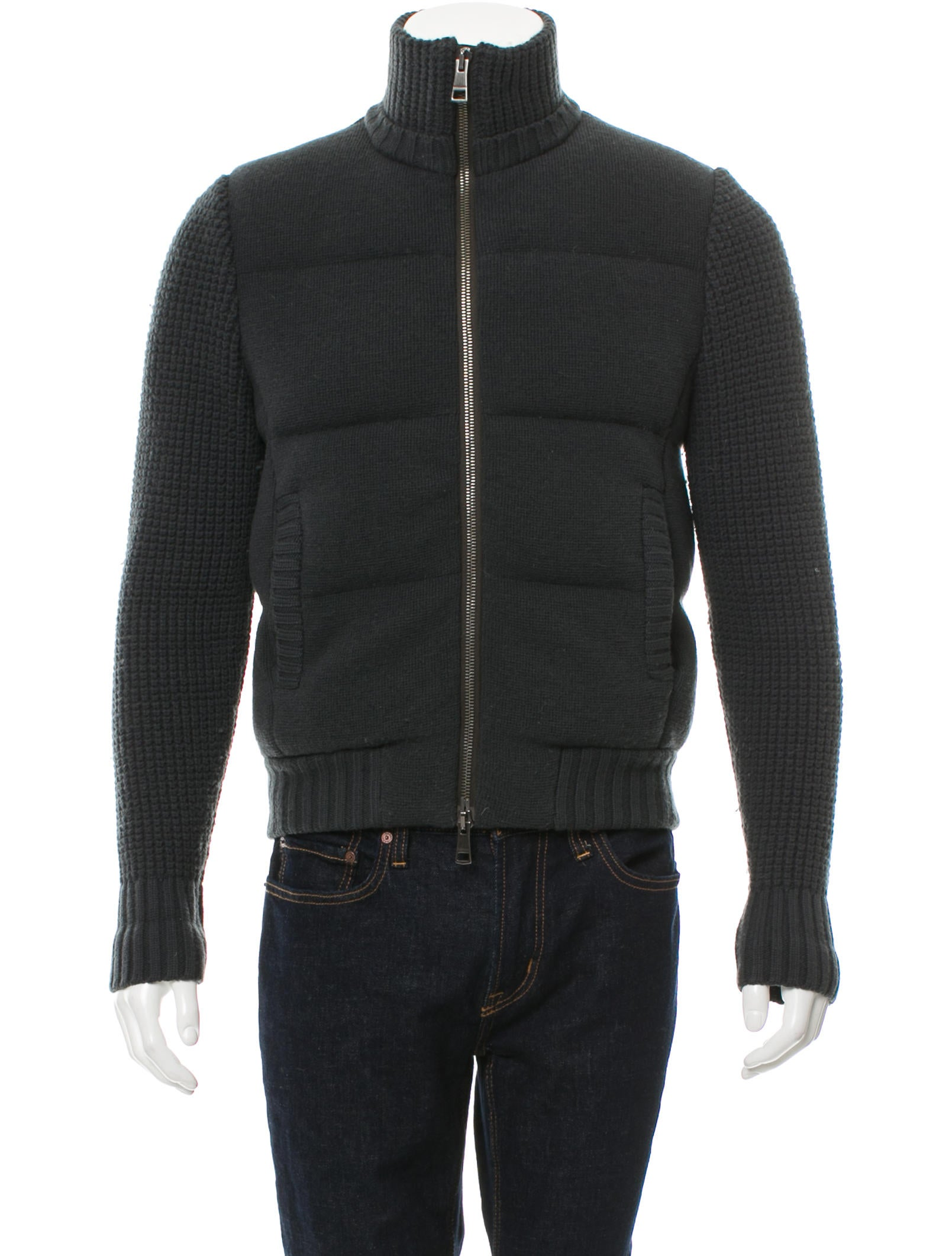 Burberry Brit Wool Paneled Quilted Jacket Clothing