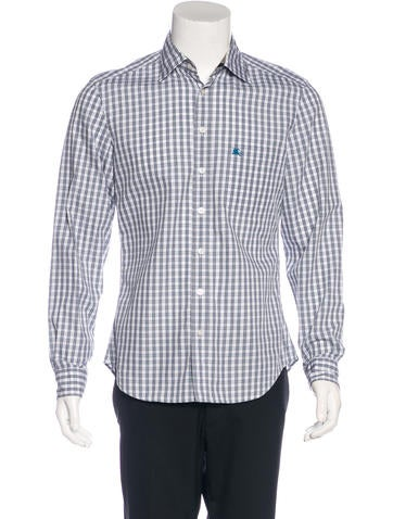 Burberry Brit Plaid Embroidered Shirt Clothing
