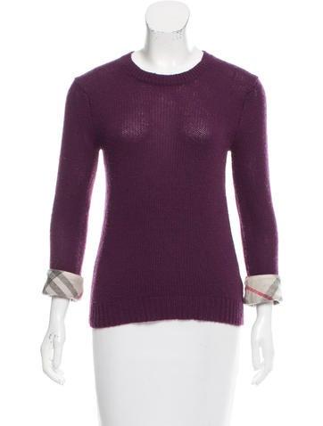 Burberry Brit Wool Rib Knit Sweater None