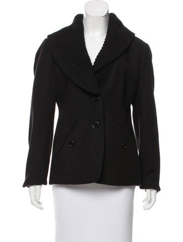Burberry Brit Wool Shawl-Lapel Coat None